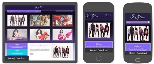 Fotoplus Gallery Mobile Website Template by w3layouts