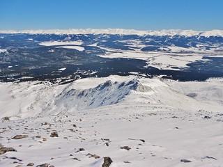 East Ridge of Mt Massive from 14,200 ft