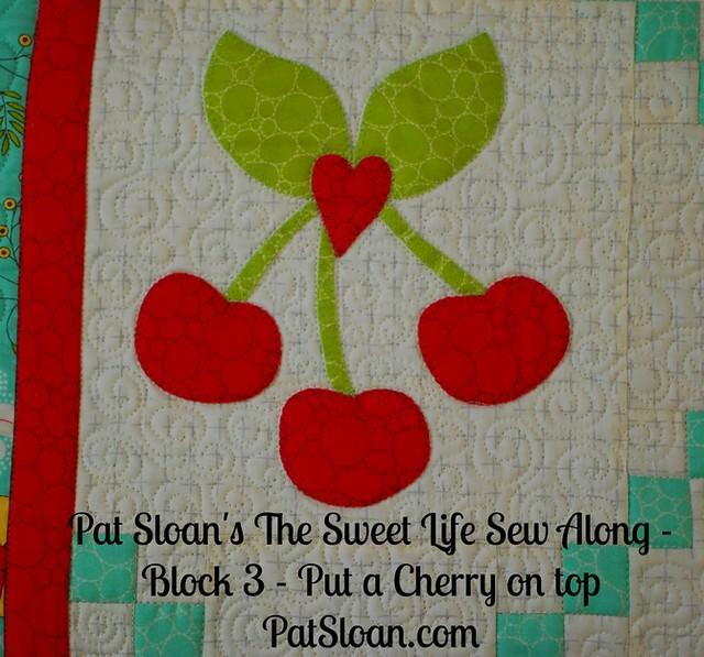 Pat Sloan Sweet Life Sew Along block 3