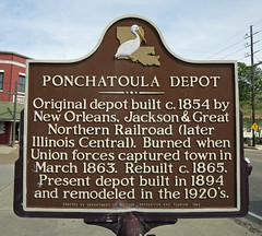 Photo of Ponchatoula Depot brown plaque