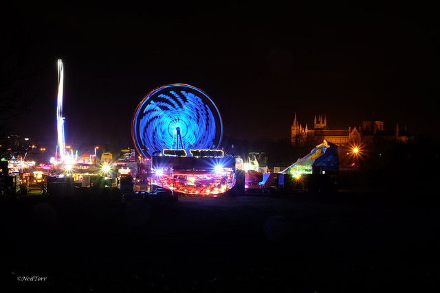 Fun Fair and Cathedral