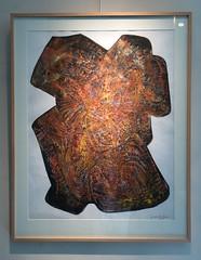 Oeuvre (1967) du peintre Jacques Le Roux, musée Chintreuil, Pont-de-Vaux (Ain, France)