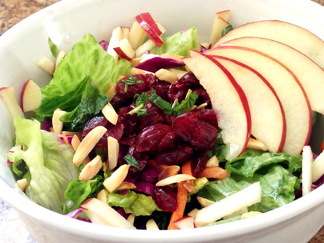 Carrot, Cabbage, and Apple Salad