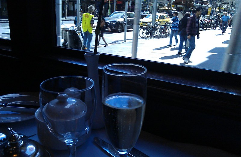 Inside the Melbourne restaurant tram