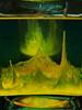 Pareidolia: Jupiter the Yellow Planet or ... ? - Aleatorics with an Egg in a Glass Cube, using a technique of Egg Oracle ~ Ei Aleatorik im Glas Würfel, unter Verwendung einer Technik des Ei Orakel. Pareidolie: Jupiter, der gelbe Planet oder ...? by hedbavny