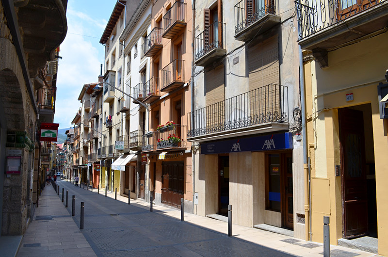 Quiet streets at lunchtime, Camprodon, Pyrenees, Spain