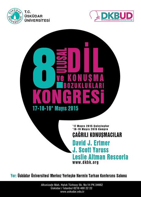 8. Ulusal Dil ve Konuşma Bozuklukları Kongresi, Üsküdar Üniversitesi'nde yapılacak