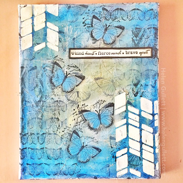 Mixed Media Canvas: Kind, Fierce, Brave | http://helengullett.com/?p=9194