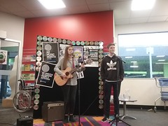 Natalie Hutton and Jono Stewart - NZ Music Month performance at Shirley Library