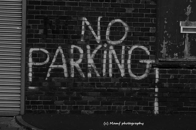 No parking.