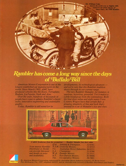 1976 Rambler Matador 4 Door Sedan Aussie Original Magazine Advertisement