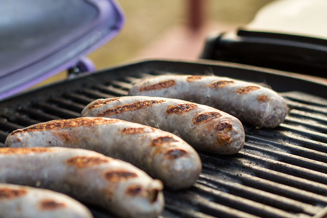 Grilled Sausages on the Q