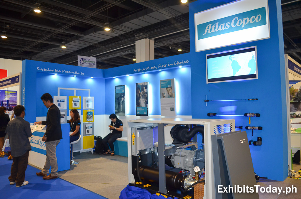 Atlas Copco Exhibit Stand