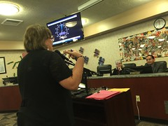 True Blue - I and about 10 other teachers supported classified staff at the board meeting.