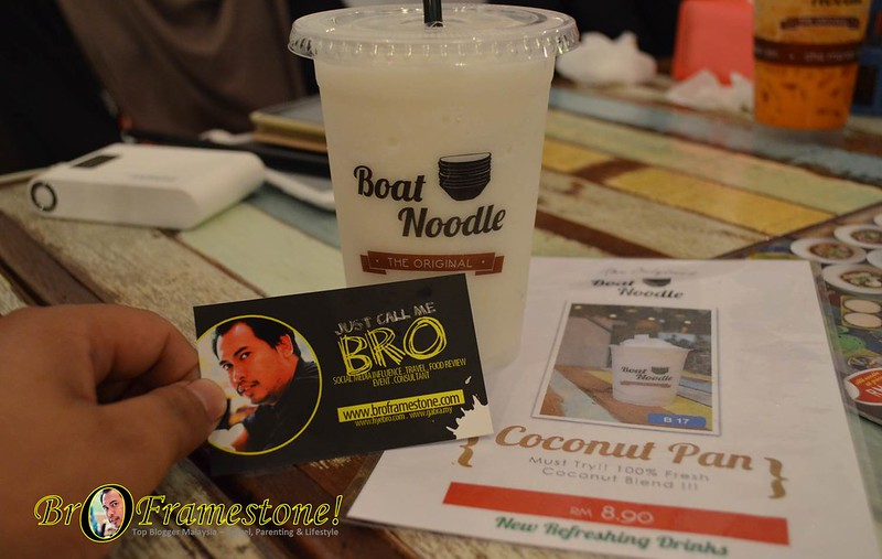Ice Blended Coconut - Menu Terkini Boat Noodle 2015