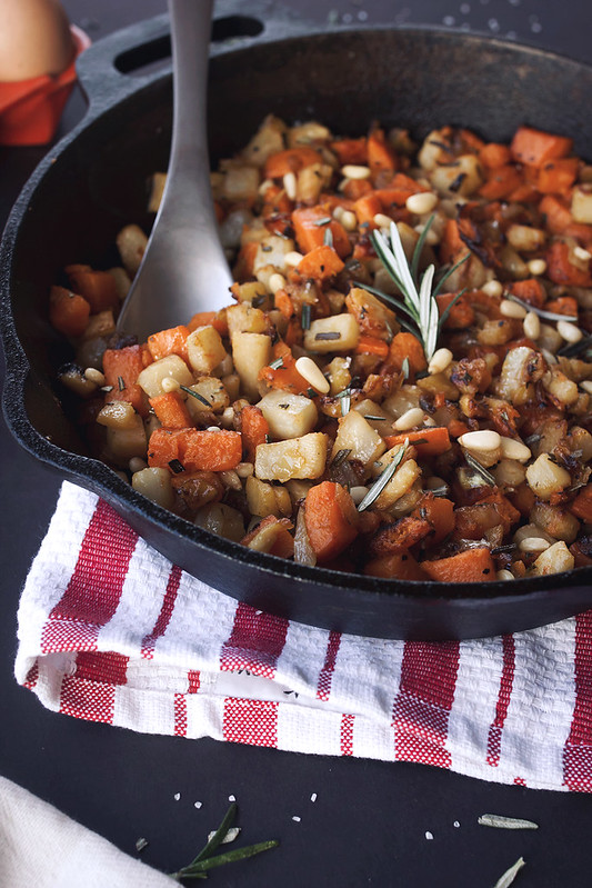 Celeriac, Sweet Potato and Apple Hash