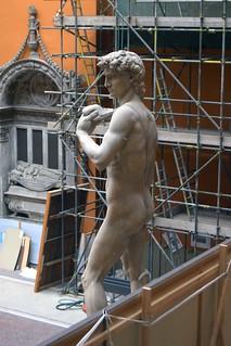 Michelangelo Buonarotti (1475-1564) - David (19th century plaster cast) above back left, Victoria & Albert Museum, London, Mar 2012