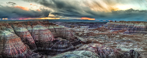 Blue Basin Sunset- Petrified Forest National Park