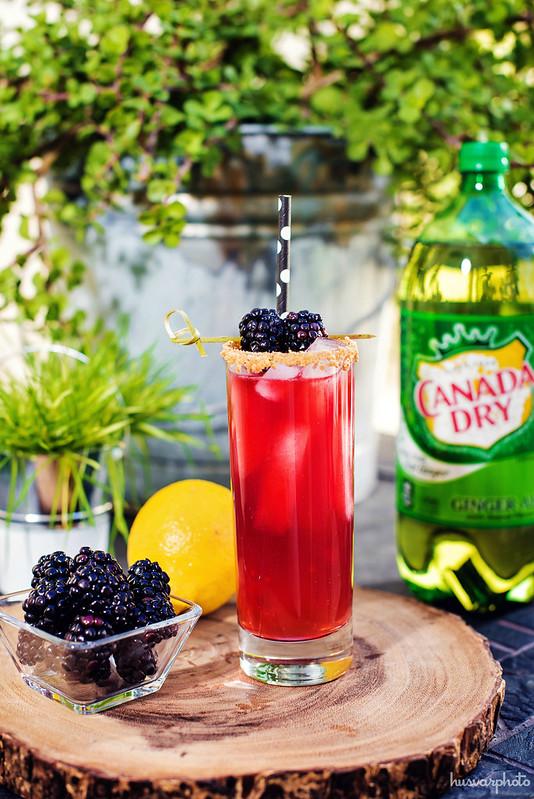 blackberry cobbler cocktail recipe #KeepSpringBubbly