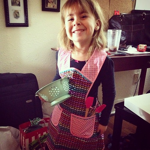 The apron I made Karlie was a hit! #besttiaever