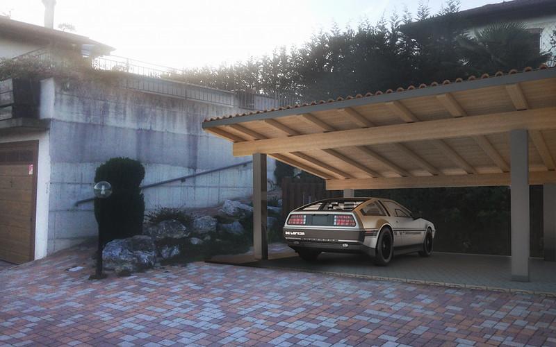 fotoinserimento tettoia