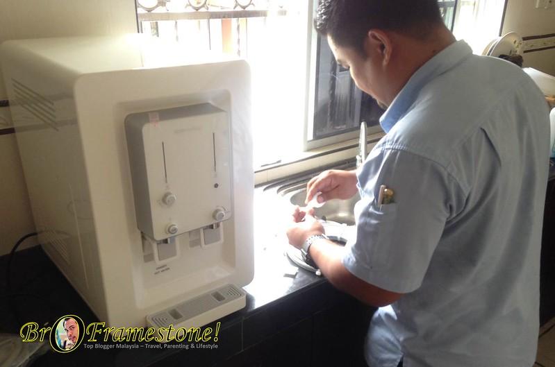 Pemasangan Coway Water Purifier Villaem CHP-08AR