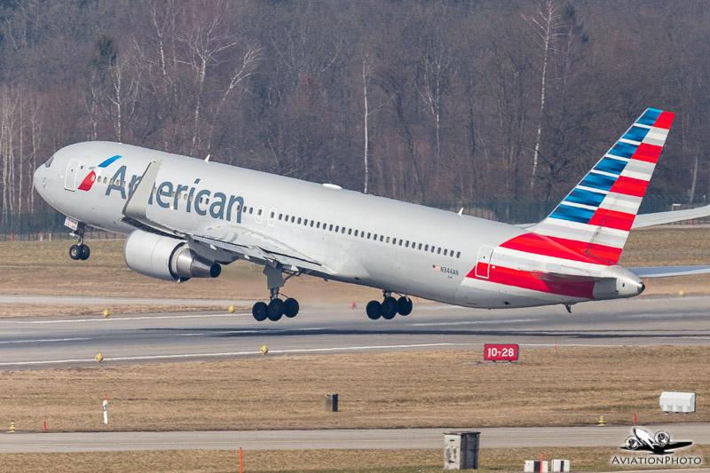 N344AN / American Airlines / Boeing 767-323(ER)