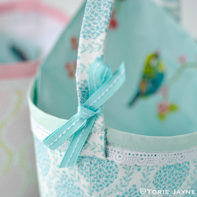Fabric basket sewing tutorial 1