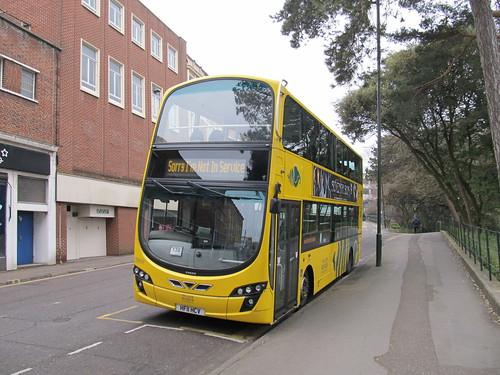 VGW123 Yellow Buses Bournemouth HF11HCV