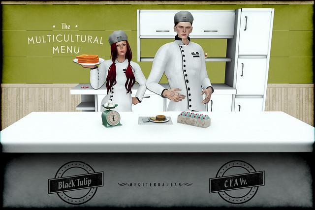 Multicultural Menu Sponsor Poster - Mediterranean Menu