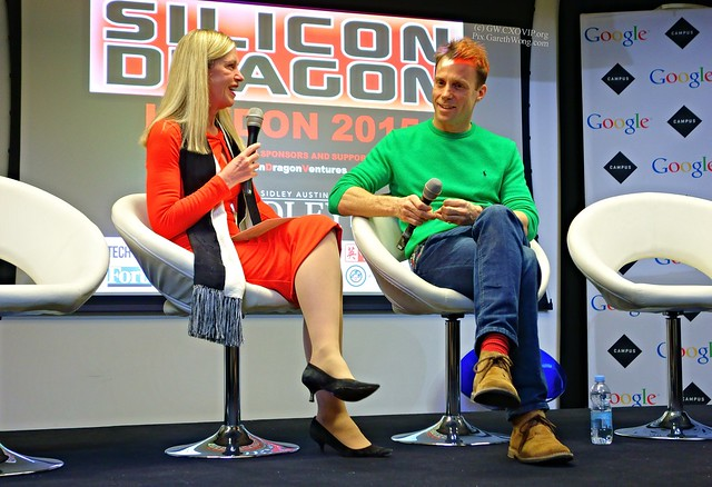 Rebecca Fannin, Founder/Editor, Silicon Dragon with Alexander Trewby, Partner Development Manager, Google; Co-founder, Divide in Hong Kong at SiliconDragon London 2015 from RAW _DSC2975