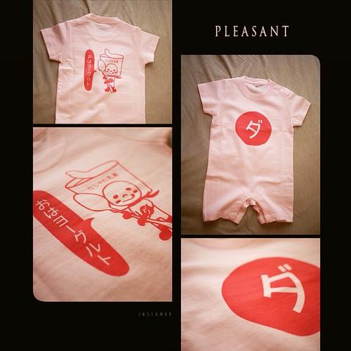 おはヨーグルトの赤ちゃん用ロンパースだよぉ(●´3`)ノ #illustration #イラスト #lineスタンプ  #ダジャレ #ダジャレンジャー #baby #fashion