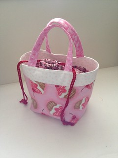 A pink lunch bag