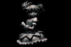 anime, monochrome photography, cartoon, monochrome, illustration,