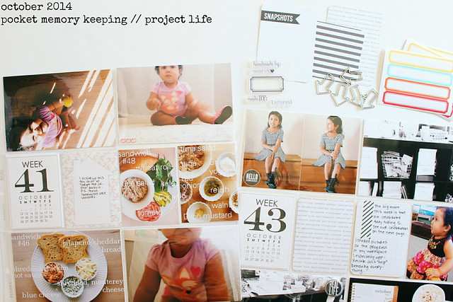 september / october 2014 layouts :: pocket memory keeping / project life