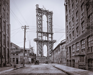 Manhattan Bridge Construction - 1906