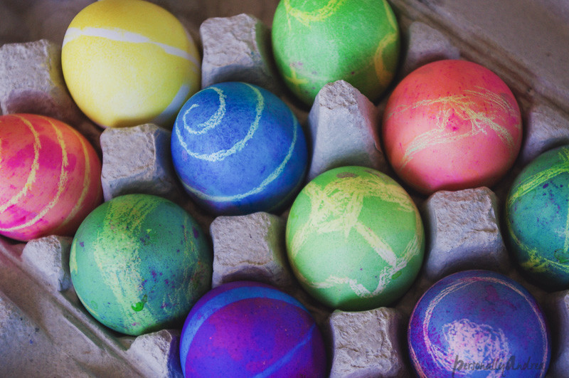 Multicoloured eggs for Easter