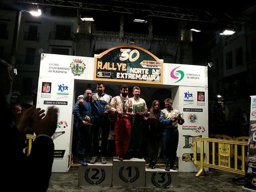Podio Rallye Norte de Extremadura 2015