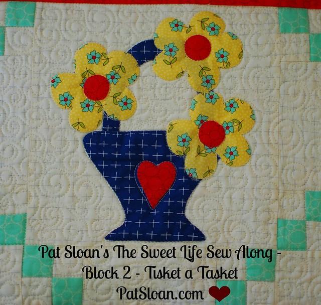 Pat Sloan Sweet Life Sew Along block 2