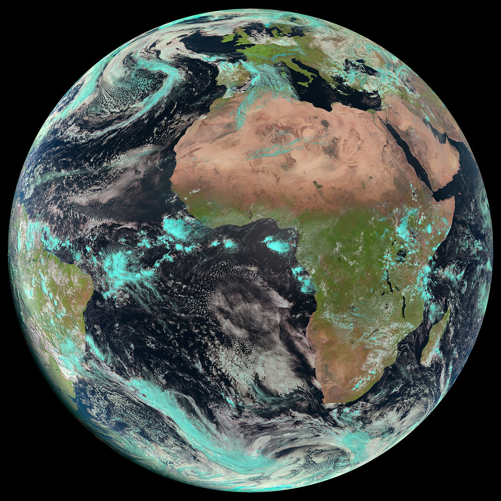 MSG-3 image of Earth, April 2015
