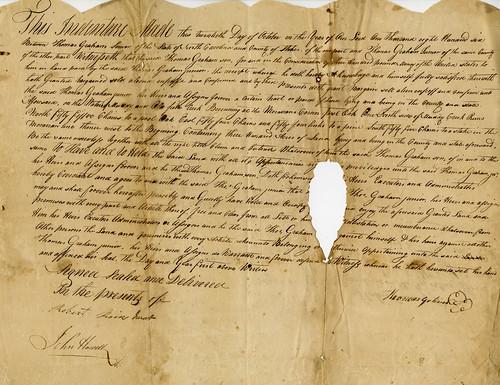 Dalton indenture 1806