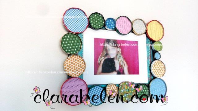 Inspiraciones manualidades y reciclaje c mo decorar un for Decoracion de espejo con material reciclable