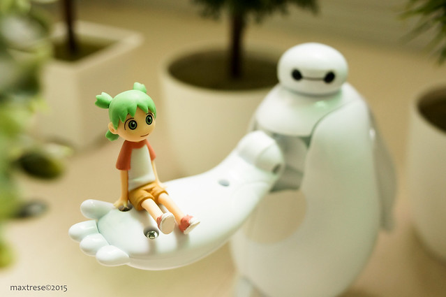 Monochrome Animals Yotsuba and Armor-up Baymax