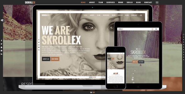 Skrollex v1.2 - Creative One Page Parallax