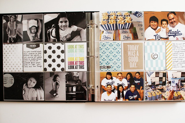 august 2014 layouts (pocket memory keeping / project life)