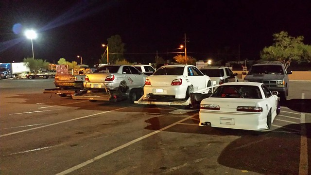 P1 Drift Event After Hours Truck Stop