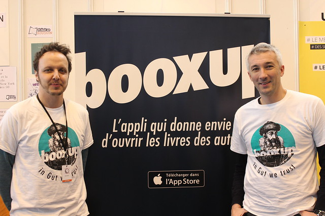 Robin Sappe et David Mennesson (Booxup) - Salon du Livre de Paris 2015