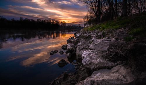 sunset sky nature water canon river landscape bavaria eos ratisbon donau 70d caviardreams