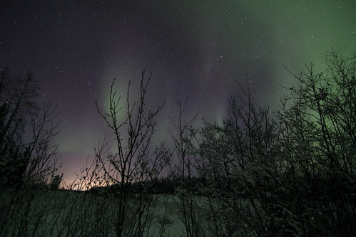 Northern lights at Manasan Quarry