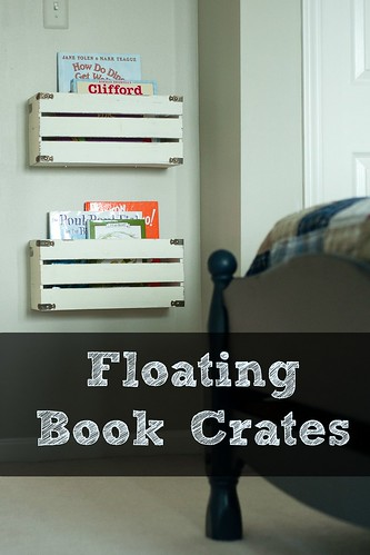 Create Book Storage with Floating Wall Crates